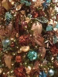 brown s christmas tree brown and teal christmas trees brown turquoise