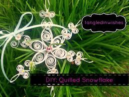 diy paper quilling snowflake ornament