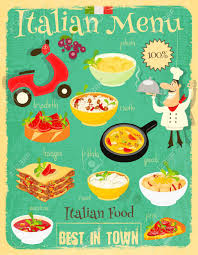 cuisine vintage food menu card with traditional meal retro vintage design