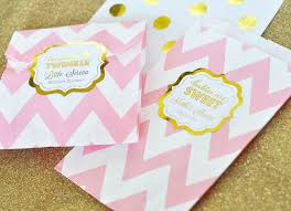 personalized goodie bags metallic foil chevron dots goodie bags set of 12 baby