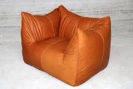 Brown Leather Bean Bag Chair Vintage Bambole Lounge Chair By Mario Bellini For B U0026b Italia For