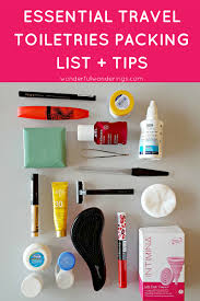 travel toiletries images How to pack essential travel toiletries list for carry on only trips png