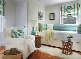 decorating beach cottage bedroom with hardwood flooring plus beach cottage bedroom with hardwood flooring plus woven basket and blue patterned fabric also day bed for guest bedroom with roman shades and runner rug