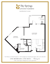 living room floor planner senior apartment floor plans the springs at greer gardens