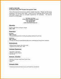 resume for high school students with no experience template resume exles for highschool students pdf free templates with no
