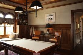 a pool table in a color that matches the room is great for an all