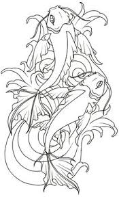 koi fish drawing outline search fishy ideas