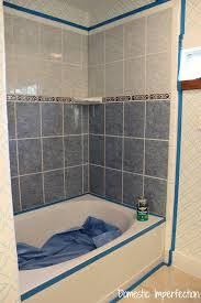 What Type Of Paint For Bathroom Walls How To Refinish Outdated Tile Yes I Painted My Shower