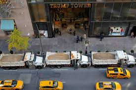 Trump Towers Address Sand Filled Dump Trucks Protecting Trump Tower The Washington Post