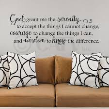 Home Decor Quotes Amazon Com God Grant Me The Serenity To Accept The Things I