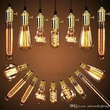 Filament Bulb Desk Lamp 40w Retro Lamp Edison Bulb St64 Vintage Socket Diy Pendant