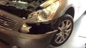 2009 infiniti g37 sedan headlight replacement youtube