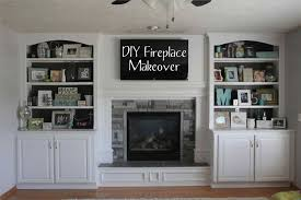diy brick fireplace remodel stone at lowes turns a buildergrade