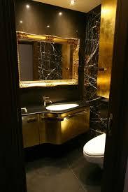 gold bathrooms black gold brown bathroom modern powder room london by