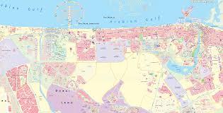 Dubai Metro Map by Dubai Map Metro Rta Plan With Red U0026 Green Line Stations U0026 Zones