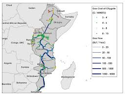 Map Of Eastern Africa by Potential For Regional Use Of East Africa U0027s Natural Gas