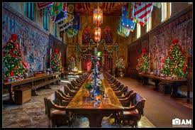 Road Trip To San Simeon Hearst Castle Decked Up For The Holidays - Hearst castle dining room