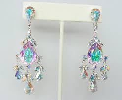 Crystal Chandelier Earrings Beadfeast Rhinestone Earrings Chandelier Swarovski Crystal Crystals Earring