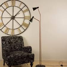 huge grayson style floor lamp in black copper statement lighting
