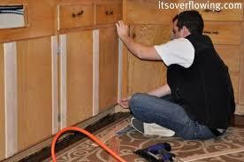 Flat Kitchen Cabinet Doors Makeover - kitchen cabinet resurface pennies per door its overflowing