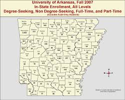 University Of Arkansas Campus Map Enrollment Reports Institutional Research And Assessment