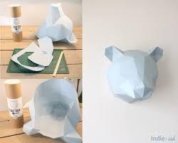 création d u0027un ours en papier pour décorer la chambre enfant