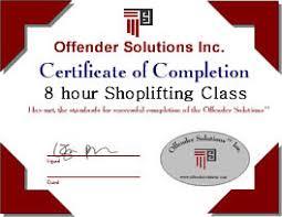 a shoplifting petit theft class online