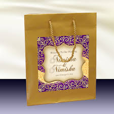 wedding gift bags for hotel 10 gold welcome bags indian hindu inspired label for hotel