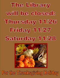 by the park archdale library thanksgiving hours