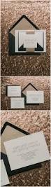ultra modern minimalistic wedding invitations with just a touch of