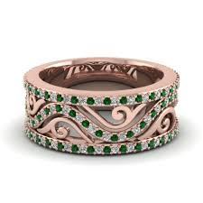 Rose Gold Wedding Rings For Women by Affordable Emerald Wedding Bands For Women Fascinating Diamonds