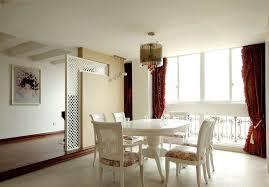 minimalist small dining room elegant dark brown leather dining