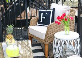 patio space with furniture from wayfair in the city of chicago