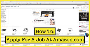 amazon black friday deals web site how to apply for a job at amazon com youtube