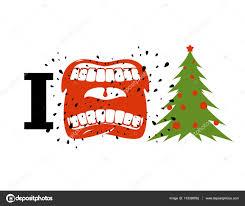 i christmas shout symbol of hatred and christmas tree agg
