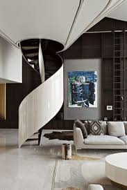 futuristic living room charming futuristic living room modern white couch curl stairs white