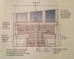 terrific dimensions for banquette seating 40 depth for banquette