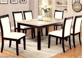 seven pcs casual dining set with the real marble top elegant