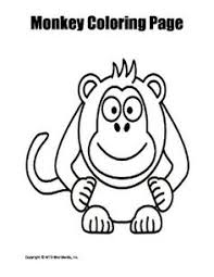 printable monkey coloring pages printable key coloring page worksheet worksheets and activities