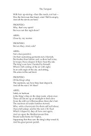 Resume For Restaurant Job by The Tempest William Shakespeare