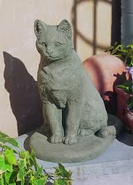 garden cat cast cat statue made by cania international