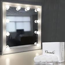 mirror with light bulbs chende hollywood style led vanity mirror lights kit with dimmable