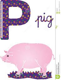 imagenes en ingles con la letra p alphabet p stock vector illustration of sixteenth mammal 6960834