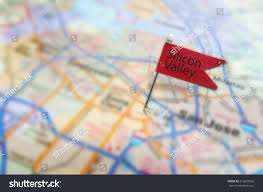 Map Of San Jose California by Red Silicon Valley Pin In Map Near San Jose California Stock