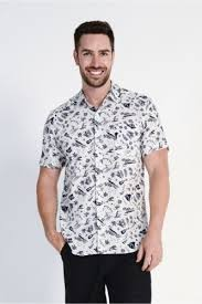 men s braintree men s hemp cotton short sleeve shirt aloha print in
