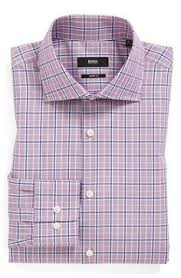 hugo boss slim fit check dress shirt red trendy pinterest