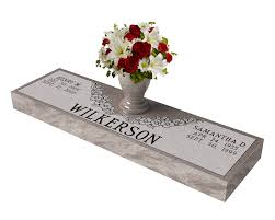 Flat Grave Markers With Vase Cemetery Markers Granite Memorial Grave Markers