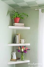 Kitchen Corner Shelf Ideas Floating Corner Shelves For Corner By Kitchen Table Cabin
