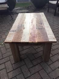 Build Your Own Reclaimed Wood Coffee Table by Diy Reclaimed Barn Wood Coffee Table Diy And Crafts