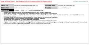 Artist Resume Sample by Lash Artist Resumes Samples